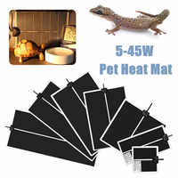 5-45W Terrarium Reptiles Heat Mat Climbing Pet Heating Warm Pads Adjustable Temperature Controller Mats Reptiles Products