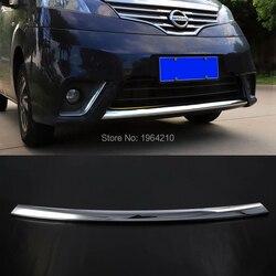 Samochodu stylizacji dla Nissan NV200 2010 2018 ABS Chrome przednia centrum kratka wokół wyważenia Racing Grille wykończenia dekoracji 1 sztuk w Chromowane wykończenia od Samochody i motocykle na