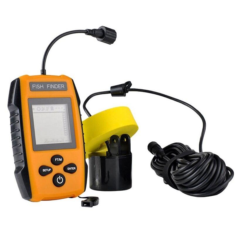 Bmdt-portable sondeur à poisson sondeur 100 M Sonar Lcd sondeurs sondeur sondeur sondeur pour pêche nouveau câble Sonar poisson F