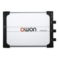 Owon VDS1022I двухканальный осциллограф осциллографы для ПК Виртуальный USB осциллограф 25 МГц Пропускная способность 100 м/с частота дискретизации