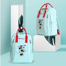 Disney милый Микки водонепроницаемая сумка для подгузников USB бутылки Кормление Путешествия Рюкзак Детские сумки для мамы сумка хранения Мумия