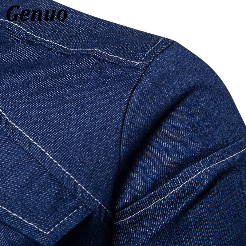 Genuo Men 39 s Denim Jacket High Quality Fashion Jeans Jackets Slim Fit Casual Streetwear Vintage Men Jean Clothing Plus Size in Jackets from Men 39 s Clothing