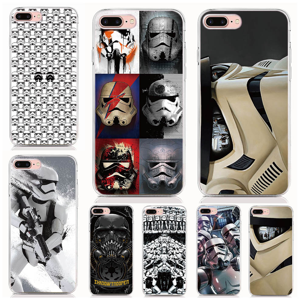 For Xiaomi Mi 5X A1 6X A2 8 8SE 8 Lite Mix 3 Mix 2 Pocophone F1 Case Print Star Wars stormtroopers Cover Coque Shell Phone Cases