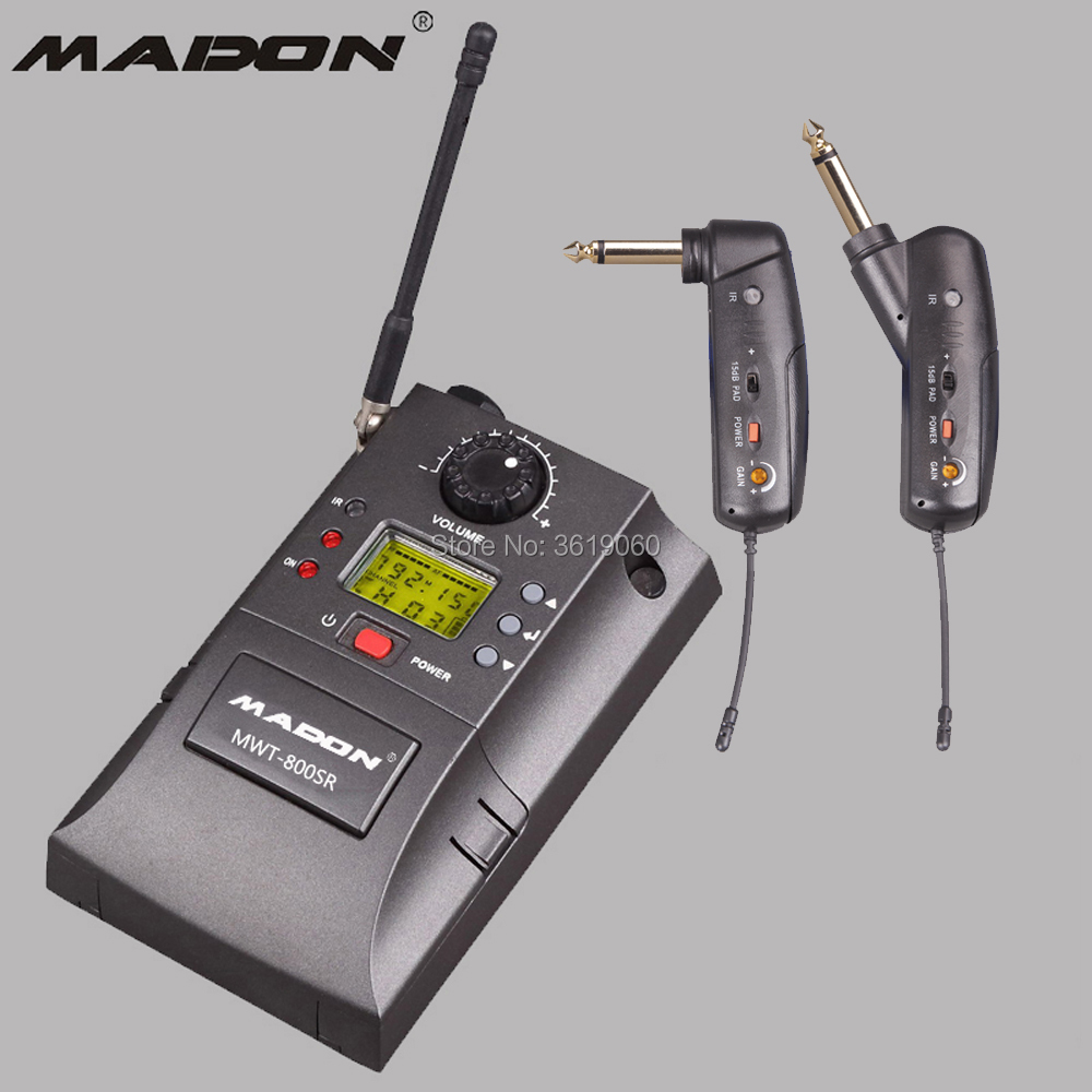 Free Shipping Stage Audio Mwt-800sr Uhf High Fidelity Hifi Wireless Portable Guitar Sound Transmission Activating Blood Circulation And Strengthening Sinews And Bones Consumer Electronics