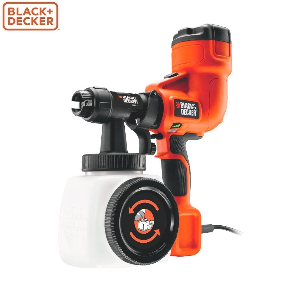 Spray Gun Black+Decker HVLP200-QS electric airbrush sand blasting sprayer power tools tool цена