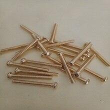 Free delivery Round head brass Copper screw/Phillips pan head machine screw GB818 M5*6 8 10 12 14 16 18 20 25 30 40 45 50 55 60