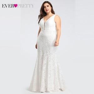Image 3 - Ever pretty vestidos de casamento, corset de renda sereia design simples elegante para casamento 2020 mariee