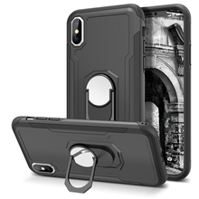 купить 2-in-1 Hard Case For iPhone X Xs Case For iPhone 7 8 Case TPU Frame Armour Protective PC Back + Soft TPU Shockproof Cover дешево
