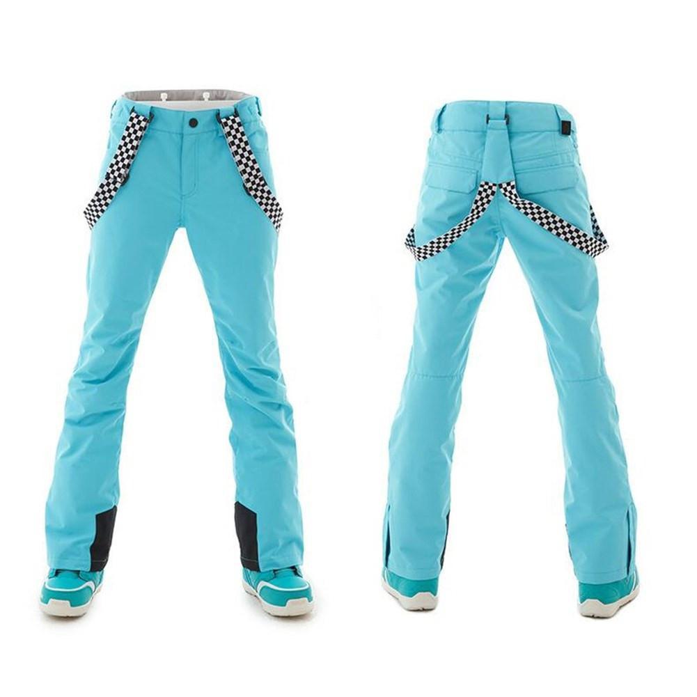 Mounchain femme chaud hiver ski pantalon imperméable à l'eau snowproof ski pantalon respirant chaud ski vêtements plein air vêtements d'hiver XS-XL - 4