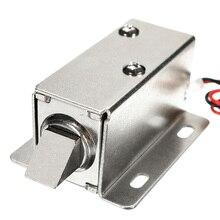 12 В DC 1.1A Электрический замок в сборе соленоидный шкаф ящик дверной замок низкая мощность Smal автоматические двери электрические замки