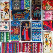 ZENGIA tela africana, tela de lino de algodón bohemio, DIY, tela étnica Vintage hecha a mano para Patchwork/bolsa/Vestido/mantel/cojín