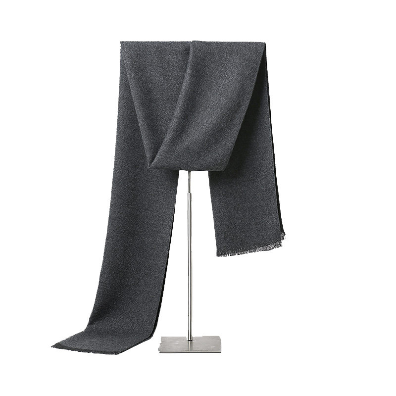 Simple Business Style Solid Cashmere Scarf Men Scarves Women Scarf Winter Fashion Accessories Gray Black Navy 180*30cm