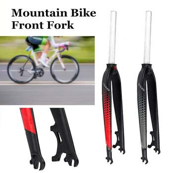 26 inch 29er Aluminum Alloy Bicycle Fork MTB Mountain Bike Cycling Bicycle Brake Disc Front Fork Bicycle Part Gray/Red 2019 New