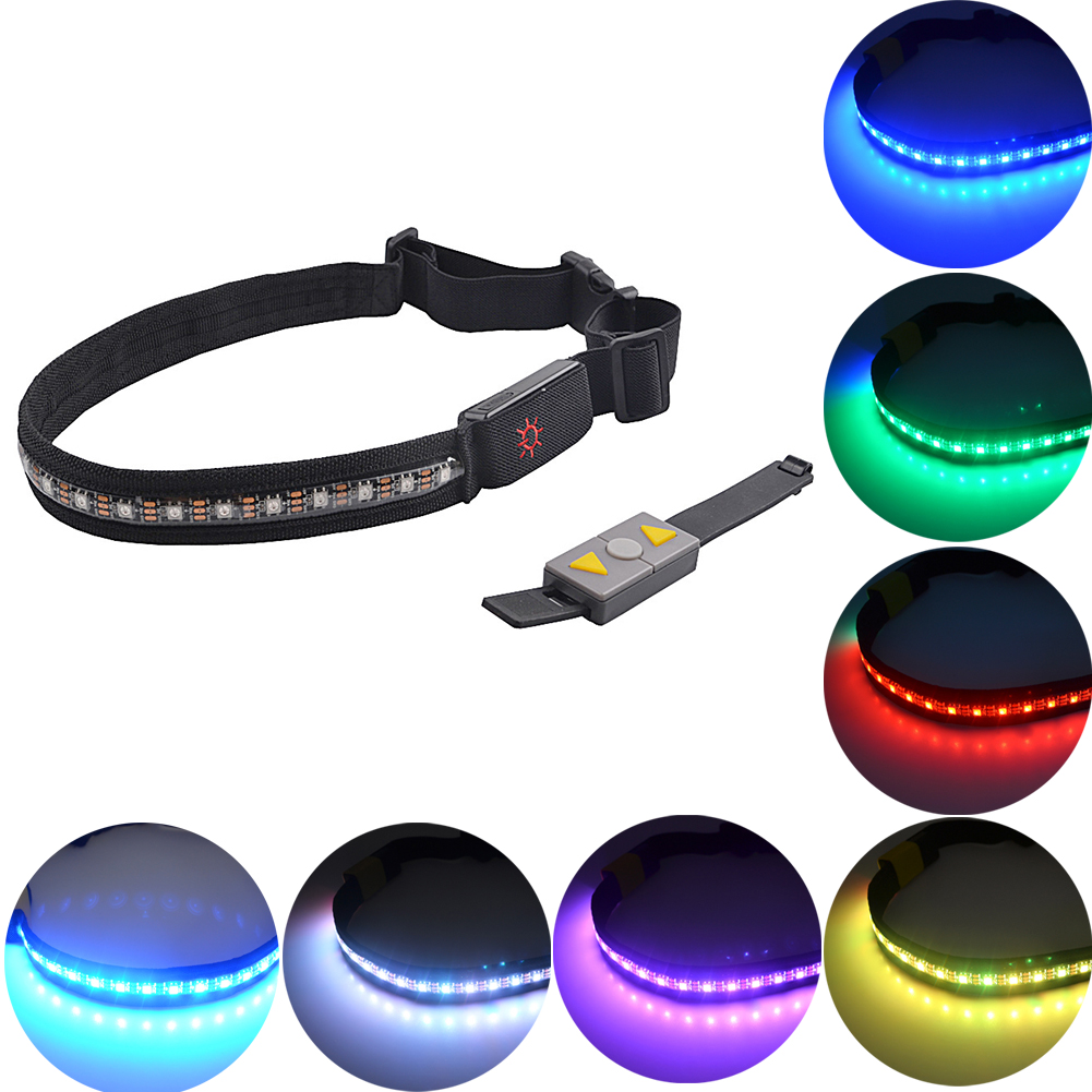 Men's Belts Obliging Adjustable Led Waist Belt Wireless Remote 24 Rgb Fitness Accessories Bicycle Safety Running Jogging Outdoor Sports Fabala Belt~3 Attractive Appearance