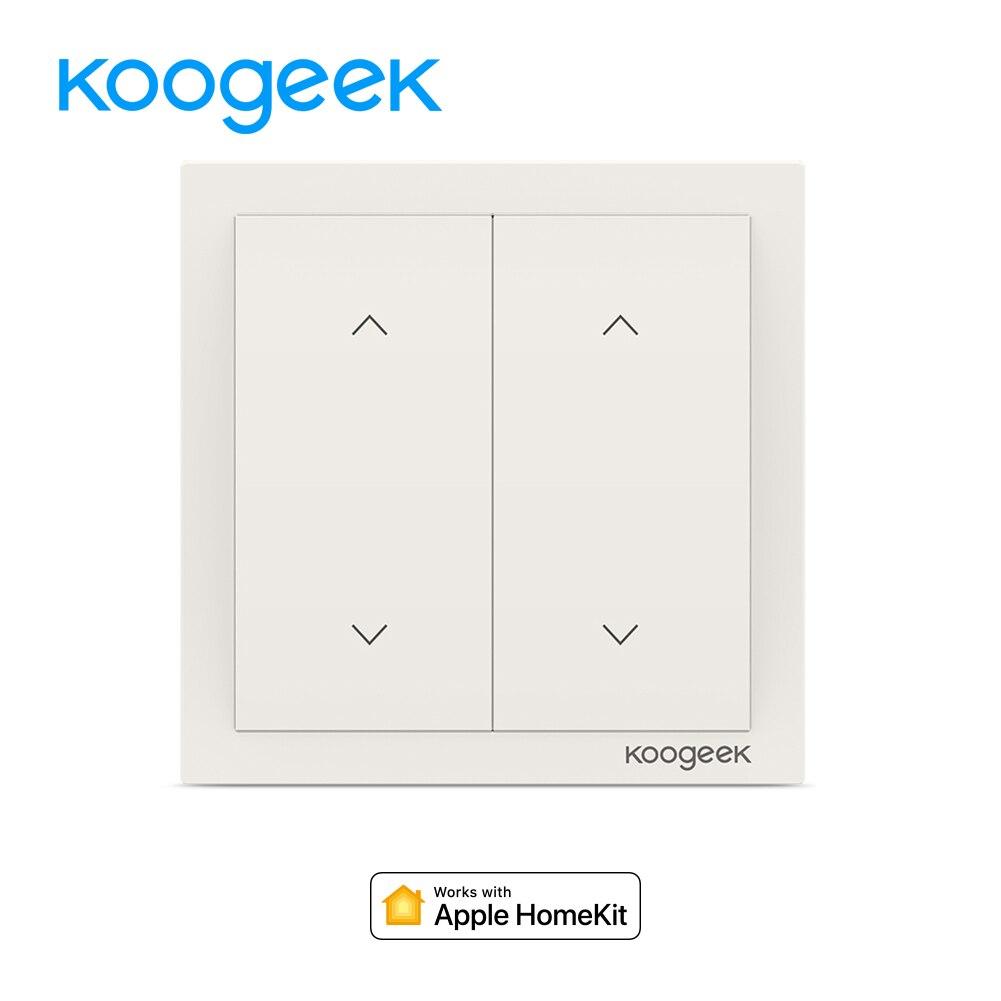 Koogeek 2 Gang Wi-Fi ampoule connectée interrupteur mural pour Apple HomeKit Alexa Google Assistant Intelligent Accueil Interrupteur télécommande
