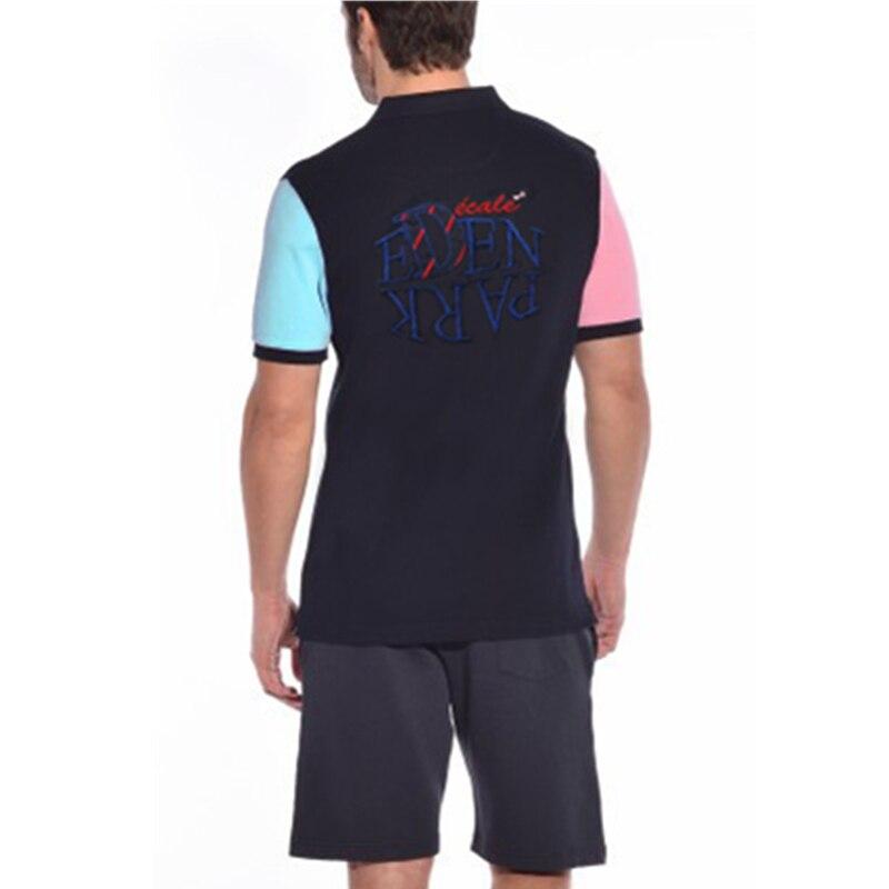 1e54675e0 Homens do Polo Eden Park 2018 Marca o Verão Curto Roupas Polos Famosa  Camisa Masculina Casual