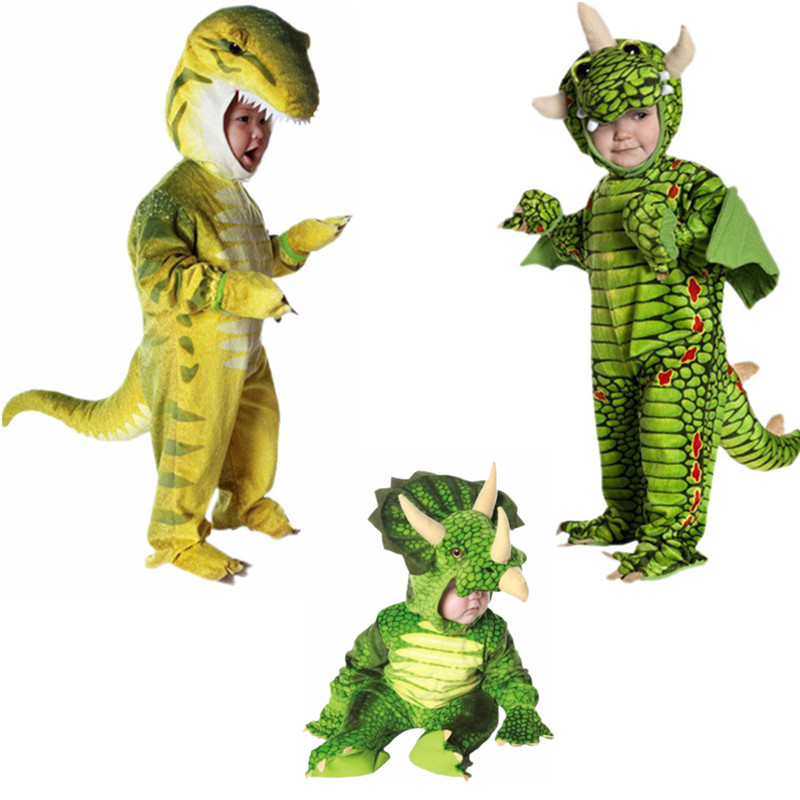 Children Purim Dinosaur Costume Baby Infant Animal Role Playing Costume Christmas Party Halloween Party Costume for Kids