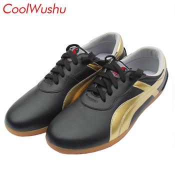 5d6f6cbe98a Zapatos de artes marciales zapatos de tai chi chino zapatos de kung fu wu  shu xie taiji músculo de vaca CoolWushu cálido invierno mujer y hombre