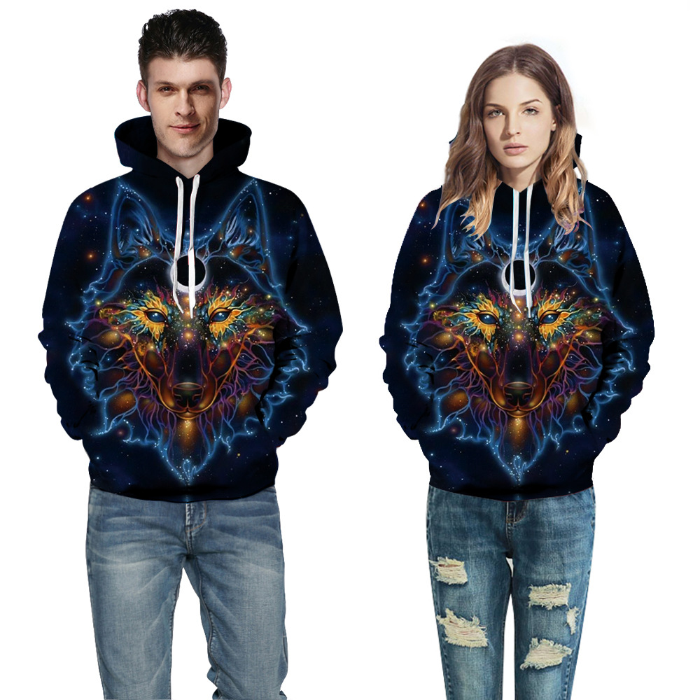 2018 Newest Print 3d Hooded Pullovers Full Sleeve Winter Autumn Hoodies Sporting Tracksuits Couplewear Women/men Sweatshirts