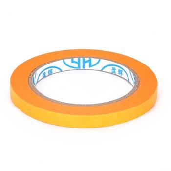 6mm/10mm/12mm/18mm/50mm 50M cinta de papel de aerosol de pintura adhesiva amarilla Mayitr