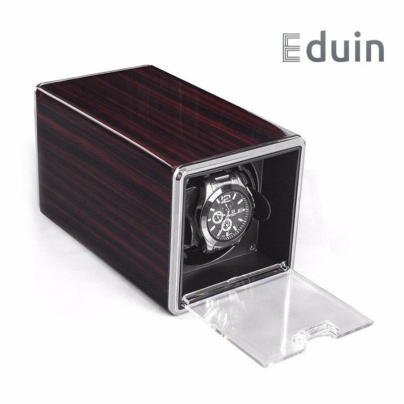 Rotation automatique boîte De montre remontoir boîtes d'affichage couvercle Transparent organisateur De stockage De bijoux US Plug Caixa De Relogios