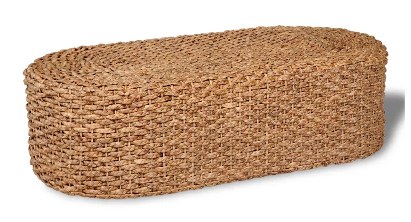 VidaXL Handwoven Coffee Table In Oval Water Hyacinth Handwashed Coffee Table In Oval Water Hyacinth Cafe Table