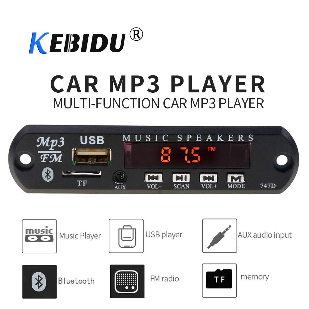 1*Bluetooth 5V 12V MP3 WMA Decoder Board Audio-Modul TF USB Radio für Auto Car