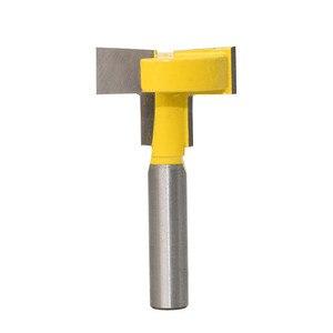 Image 2 - 1 шт. 8 мм хвостовик из твердосплавного сплава, фрезерный станок с прямым концом Т типа, Фрезерный резак, деревообрабатывающий инструмент для отделки дерева, резак