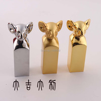 New Fashion Mouse Shape Chinese Culture Metal Seal Stamps For Scrapbooking Home Crafts For Decoration