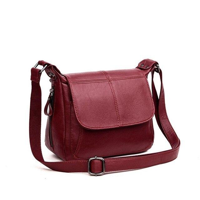 19bc0cebc7cf 2019 новая дизайнерская модная сумка Для женщин Письмо мягкого Курьерские  сумки кожа Для женщин сумки на