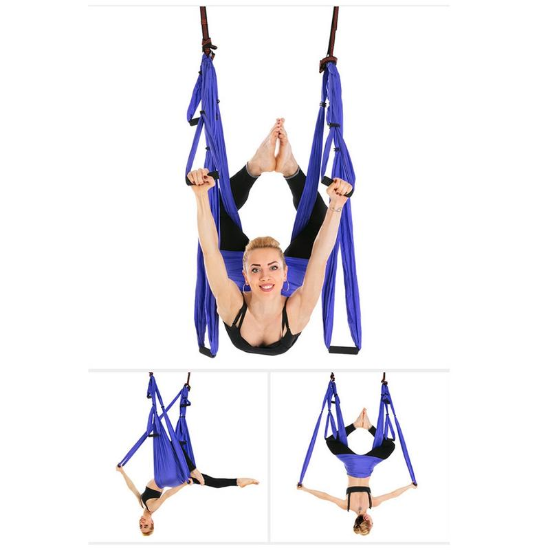Strength Yoga Hammock Official Band-yoga Trapeze Anti-gravity Swing/sling/inversion Tool For Women Sport Fitness Yoga Gym Set Fine Craftsmanship Fitness & Body Building