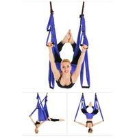 Strength Yoga Hammock Official Band Yoga Trapeze Anti gravity Swing/Sling/Inversion Tool For Women Sport Fitness Yoga Gym Set