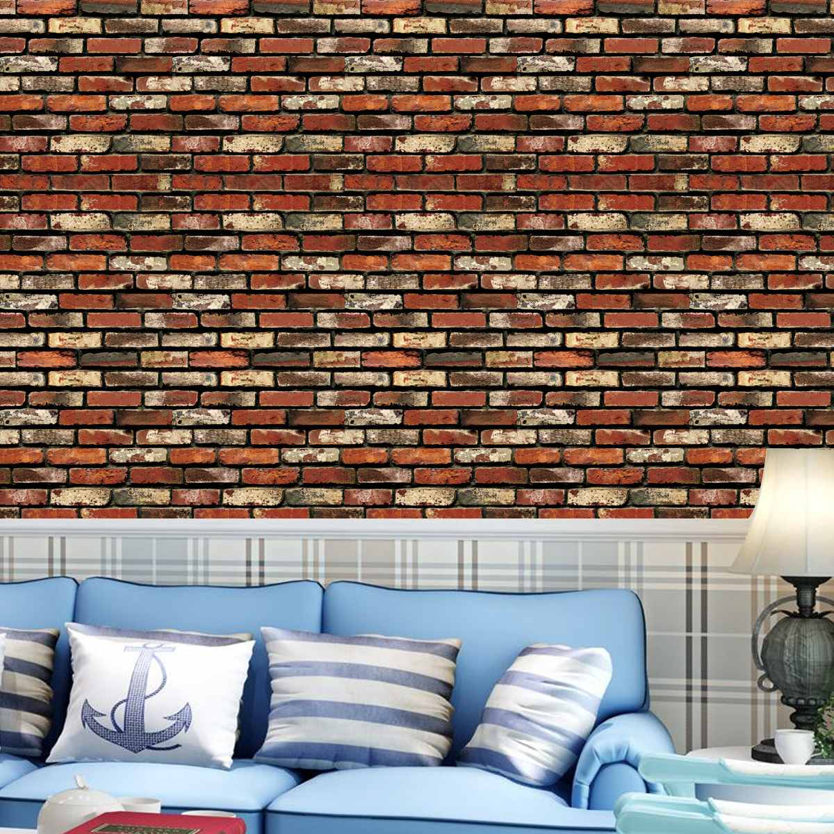45cmx10m 3D DIY WallPapers Brick Stone Pattern Sticker Rolls PVC Self-adhesive Backdrop Living Room Wall Sticker Decoration45cmx10m 3D DIY WallPapers Brick Stone Pattern Sticker Rolls PVC Self-adhesive Backdrop Living Room Wall Sticker Decoration