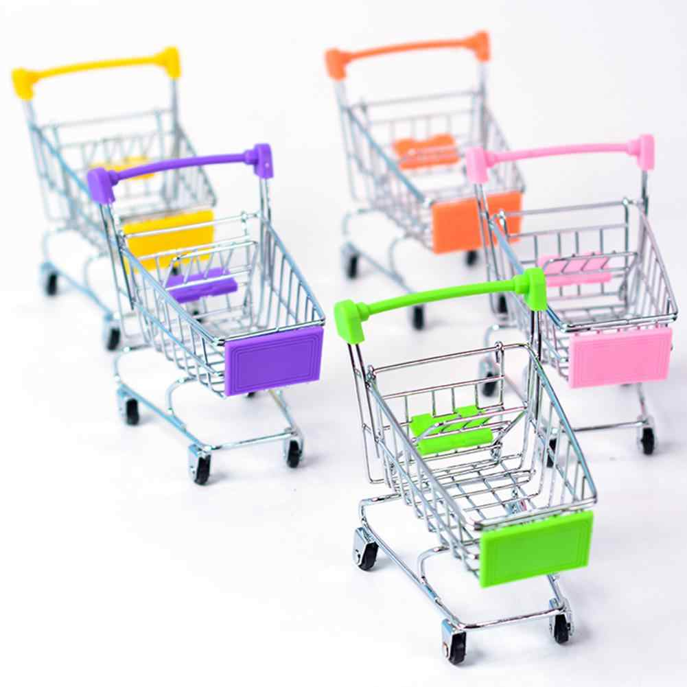 Parrot Bird Mini Supermarket Shopping Cart Shaped Toy Intelligence Growth Toy
