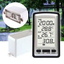 1 шт. беспроводной дождемер с термометром, дождемер, метеостанция, будильник по времени для регистратора температуры in/out