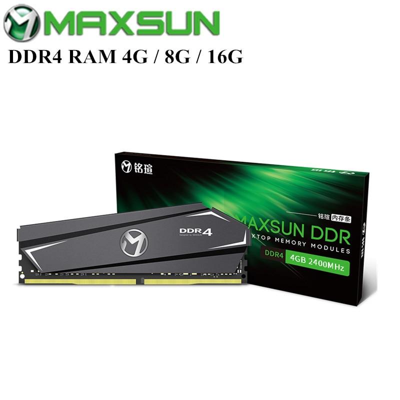 MAXSUN DDR4 RAM 4G/8G/16G Terminator 2400 MHz DDR4 RAM avec Module de mémoire de refroidissement rapide