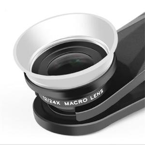 Image 2 - Pholes 2 In 1 Universal 12 24X Macro Photography Lens For J5 2017 J7 2017 A7 2017 J5 Prime Mobile Phone Camera Lens