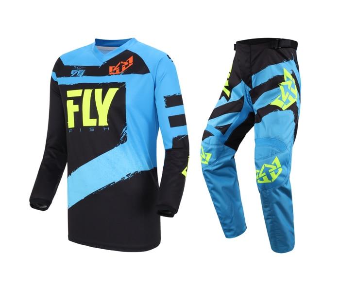 360 MX Jersey Pant Combo Motorcycle ATV BMX MTB DH Dirt Bike Motorbike Enduro Racing Riding Men's Blue Gear Set