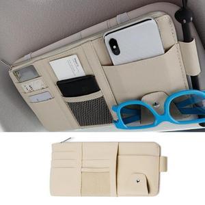 Image 3 - 多機能自動車車のサンバストラップポーチサングラス収納袋ケースカードホルダー自動車インテリアアクセサリー