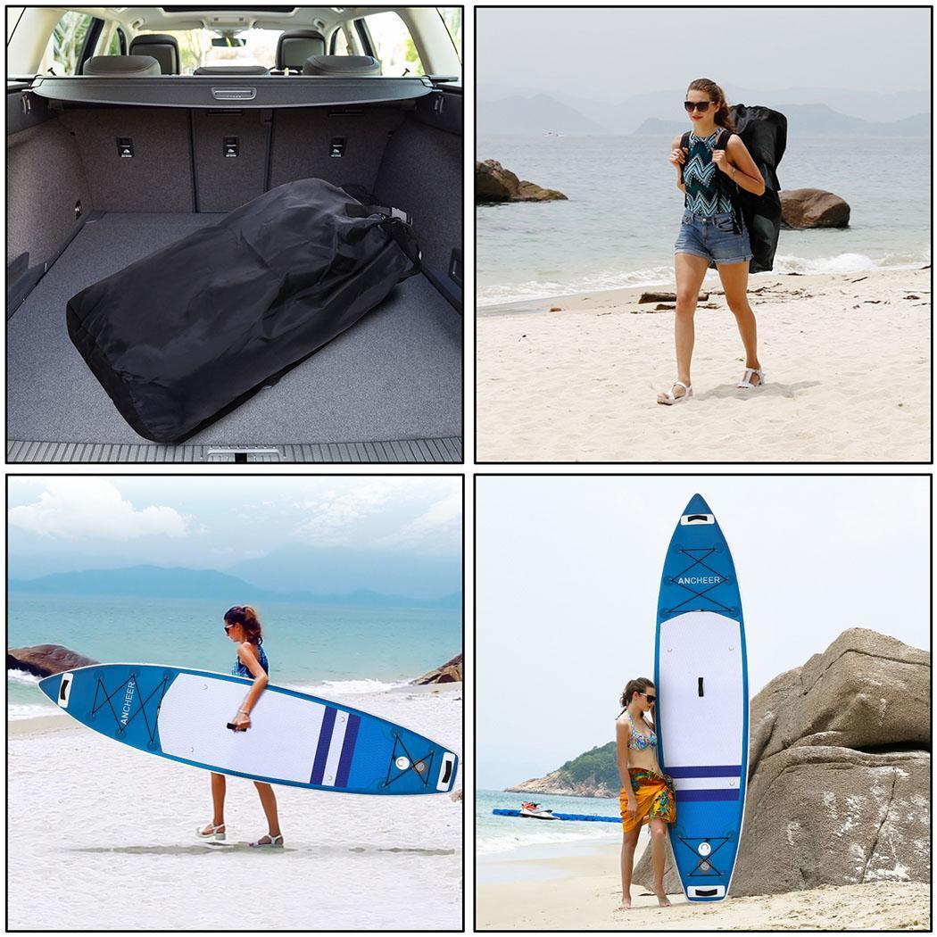 Double-couche Planche de Surf Tout usage support réglable Up Paddle Gonflable 1000D Brossé Planche De Surf Paddle Board 330x80x18 cm - 4