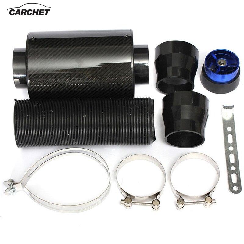 CARCHET voiture Fiber de carbone Induction Kit filtre d'admission d'air Ram boite filtre Air froid soufflet d'admission pièce système avec tuyau d'admission
