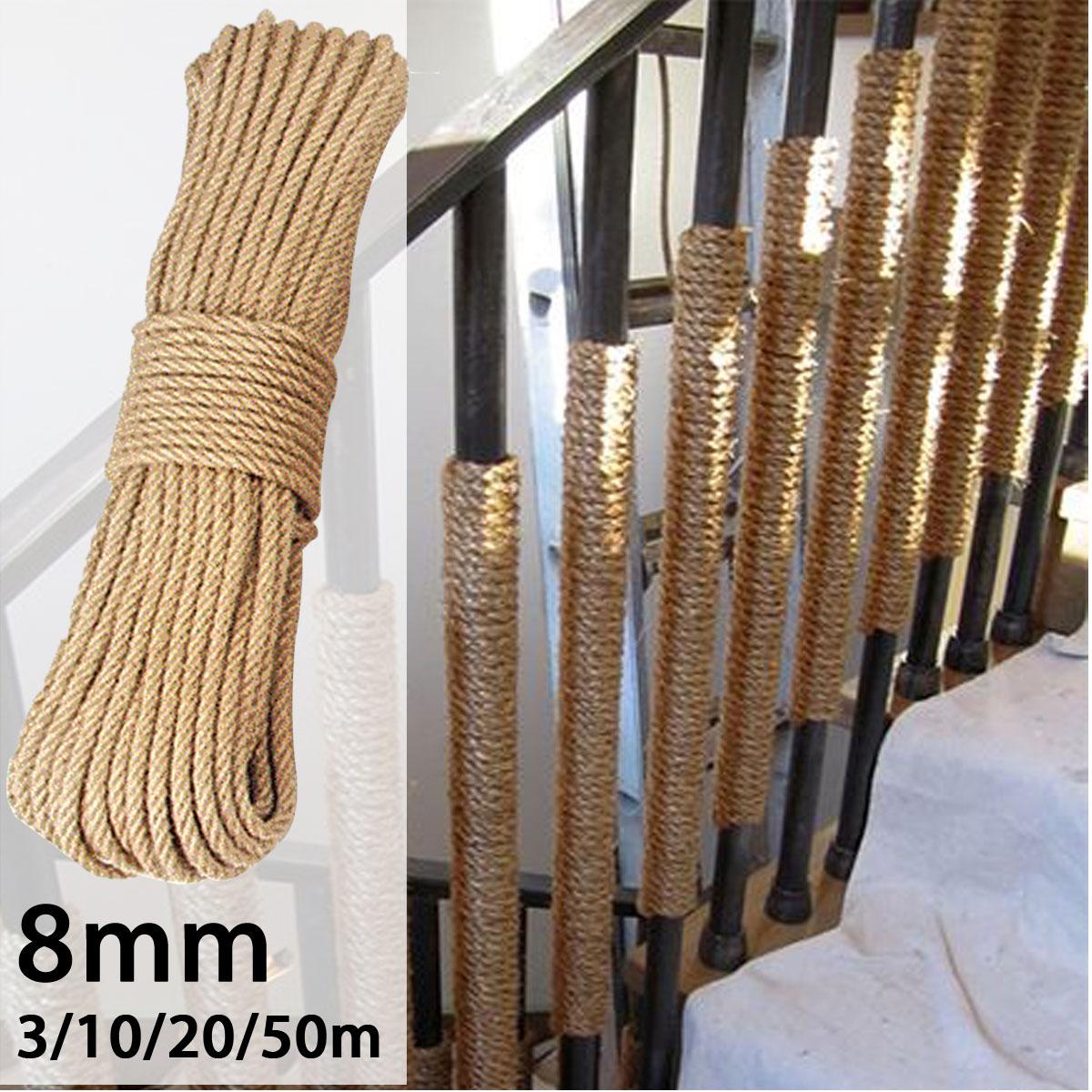 Main Courante Escalier Corde €4.62 30% de réduction|3 20m naturel jute corde ficelle corde à la main  jute chanvre ficelle ficelle pour bricolage artisanat décoration emballage