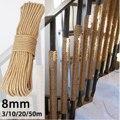 KIWARM 8mm 3m-20m Natural Jute Rope Twine Rope Hemp Twisted Cord Macrame String DIY Craft Pet Scratching Handmade Decoration