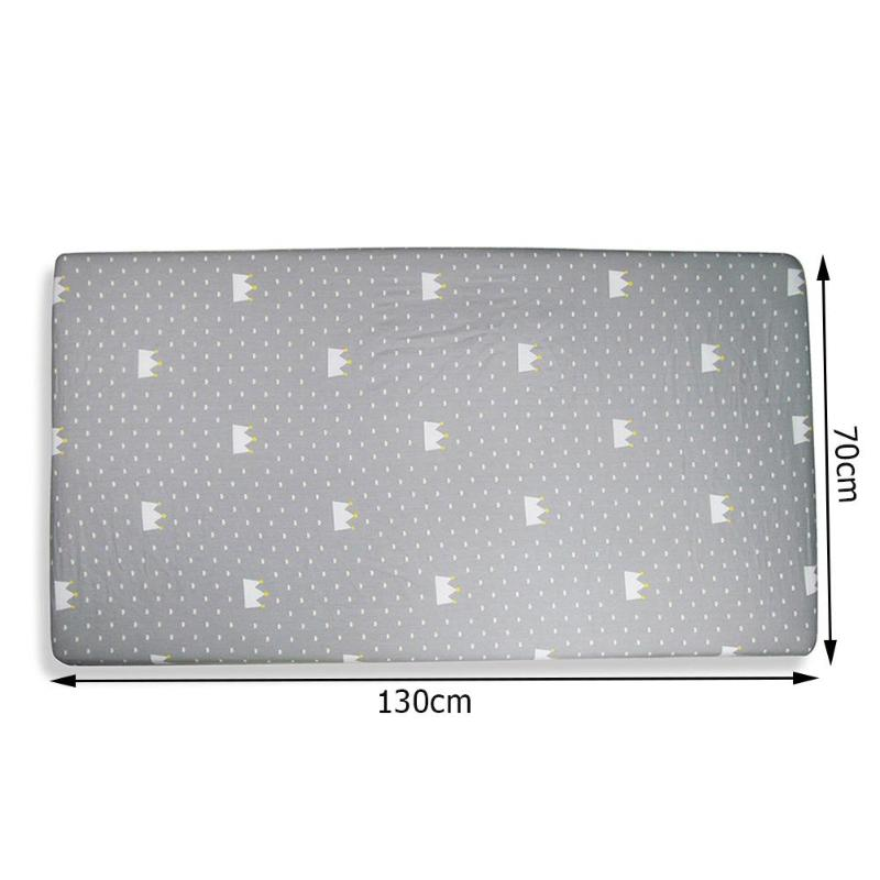 Newborn Crib Fitted Sheet Cotton Soft Cartoon Baby Bed Mattress Cover Potector Toddler Bedding