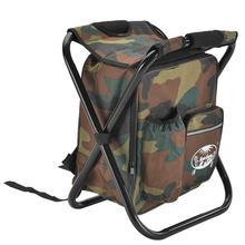 2 в 1 складной мешок для рыболовного стула рыболовный рюкзак со стулом удобный износостойкий табурет для охоты на открытом воздухе альпинистское снаряжение