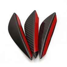 4 PCS Car Modification General Purpose Decorative Wind Knife Spoiler Crescent Blade Anti Collision Paste