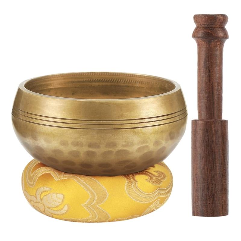 3.2 Inch Tibetan Singing Bowl Zen Meditation Yoga Meditation Bowl Wooden Stick Cushion3.2 Inch Tibetan Singing Bowl Zen Meditation Yoga Meditation Bowl Wooden Stick Cushion