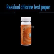 0-25 мг/л без хлора бумага-тестер остаточная проба с хлором полоски для измерения хлора в воде 10 полос/упаковка 5 упаковок/коробка