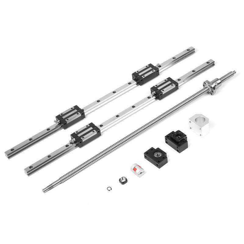 2 pièces HGR20-700mm Linéaire glissière de guidage et 1 pc RM1605-700mm Vis À Billes et BF12/BK12 linéaire rail kit CNC pièces linéaire guide
