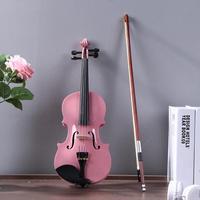 1/8Size Beginner Violin Maple Violino Antique Matt High grade Handmade Acoustic Violin Fiddle Case Bow Rosin Musical Instrument